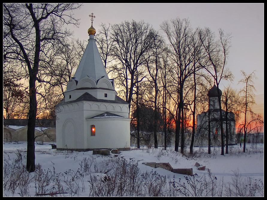 """фото """"Зимний закат"""" метки: ,"""