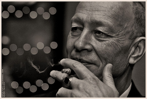 "photo ""Cigarette Smoking Man"" tags: portrait, reporting, man"