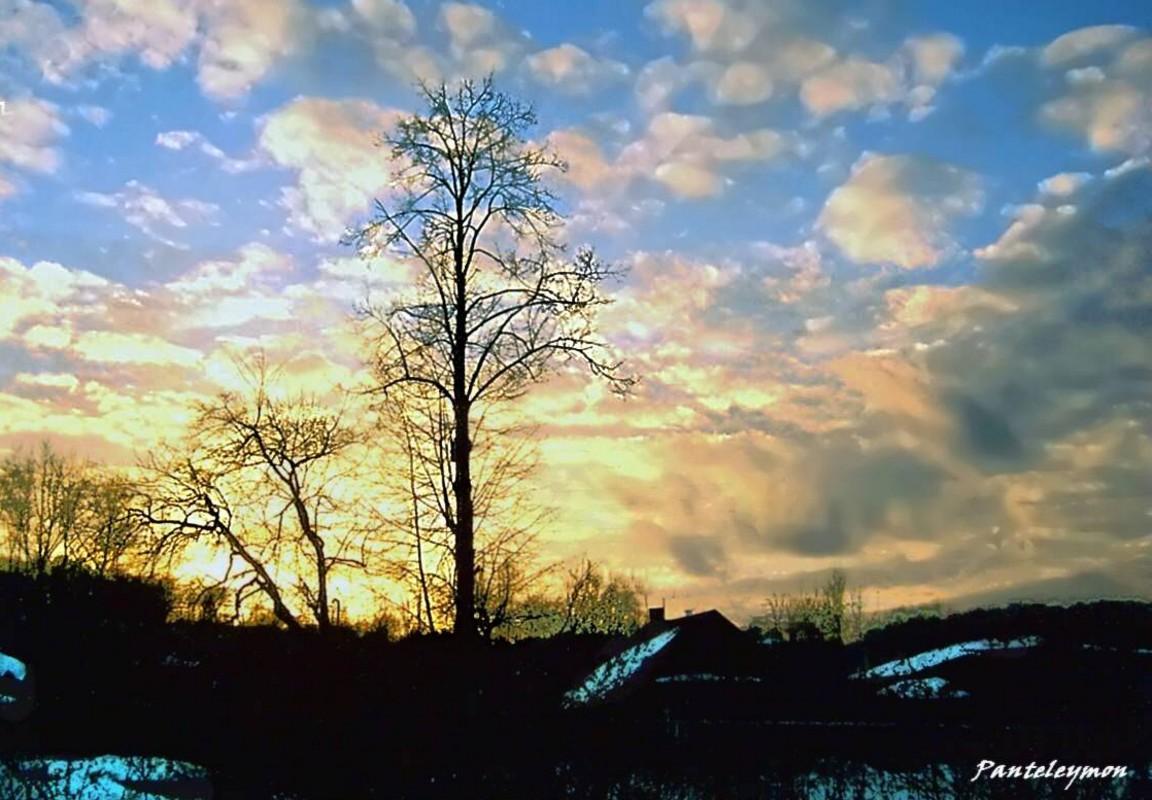 "фото ""рождественский закат"" метки: пейзаж, зима"
