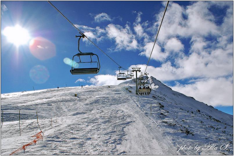 """фото """"Вверх, к вершине на 2650 м."""" метки: пейзаж, горы, зима"""