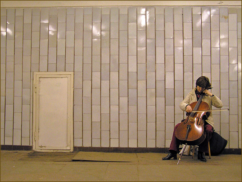 "photo ""Music of underground transitions."" tags: reporting, genre,"
