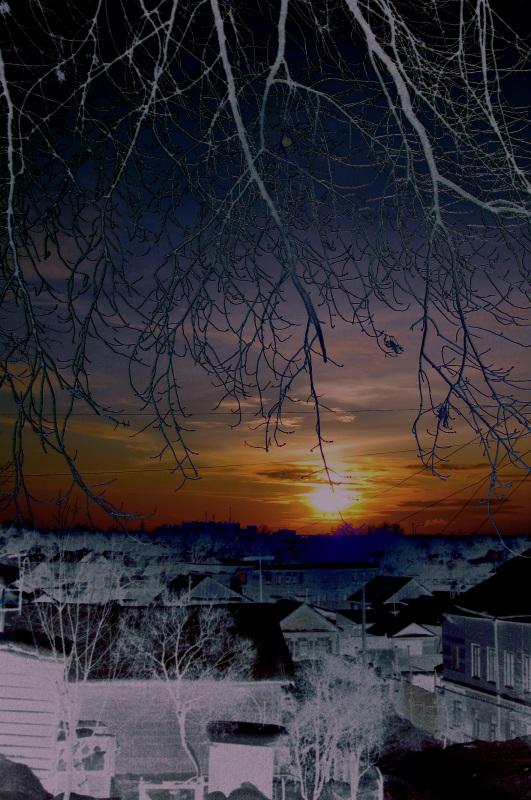 "фото ""Изнанка мира."" метки: пейзаж, закат"