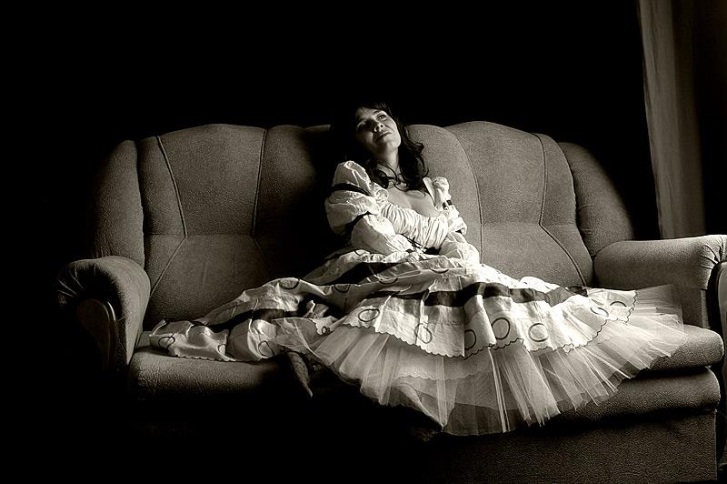 """фото """"Fatigue"""" метки: портрет, черно-белые, женщина"""