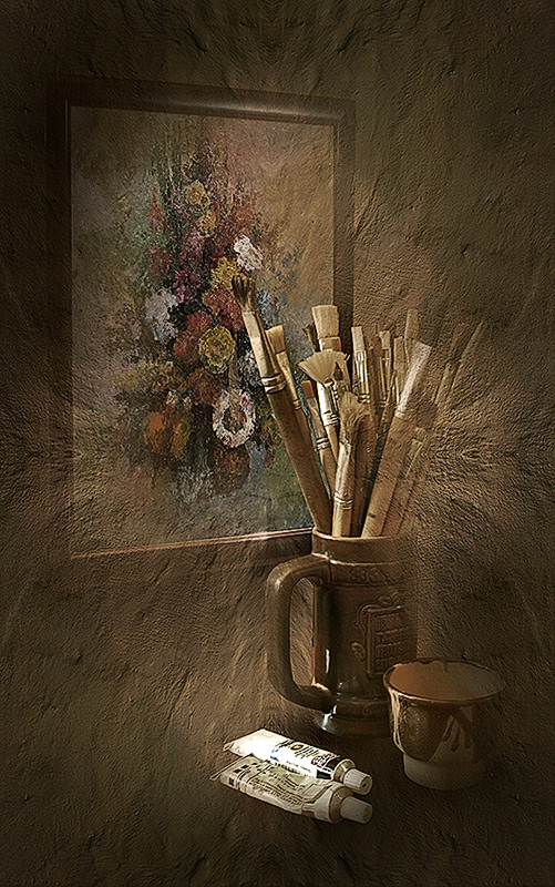 """фото """"Закончена картина"""" метки: натюрморт, фотомонтаж,"""