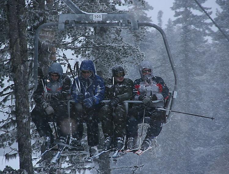 """фото """"Снегопад в горах или охота пуще неволи"""" метки: разное,"""
