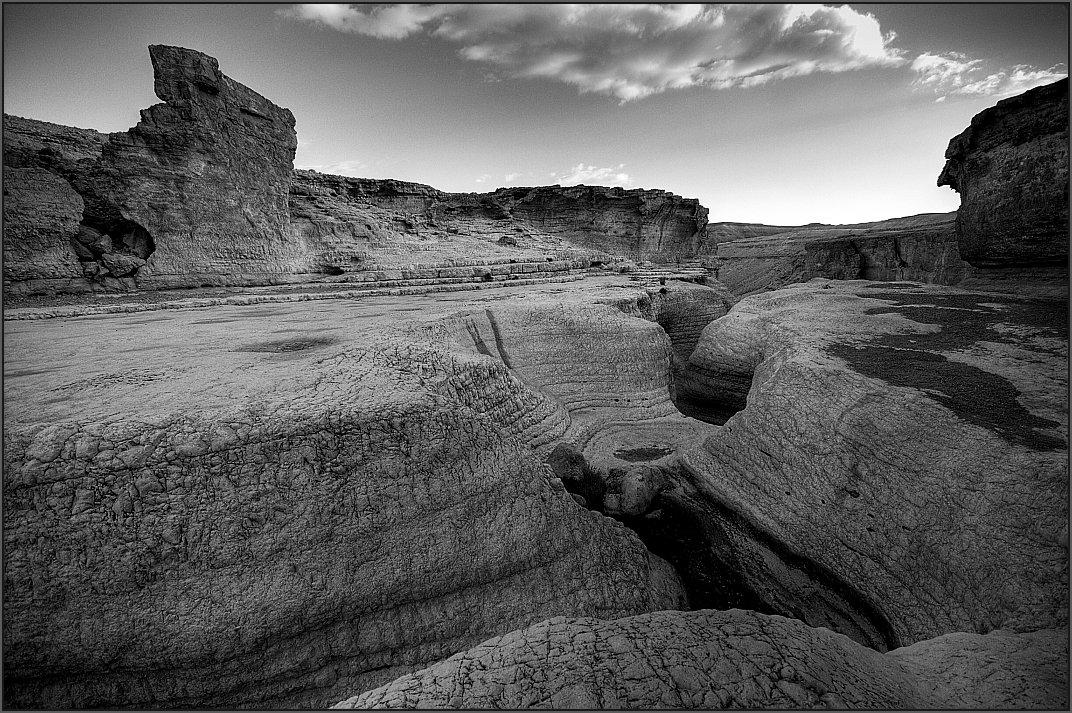 "фото ""Gvei Peres, Negev"" метки: пейзаж, черно-белые,"