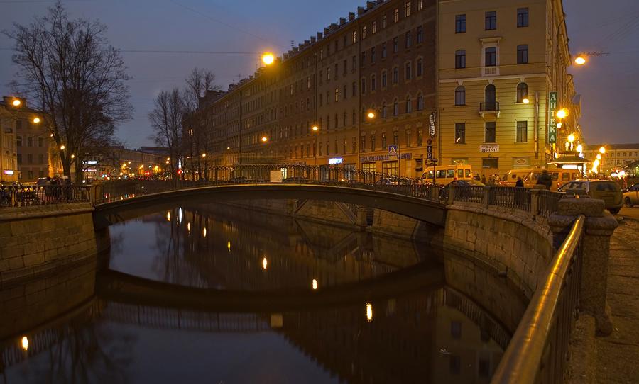 """фото """"Сенной мост, вечер"""" метки: город,"""