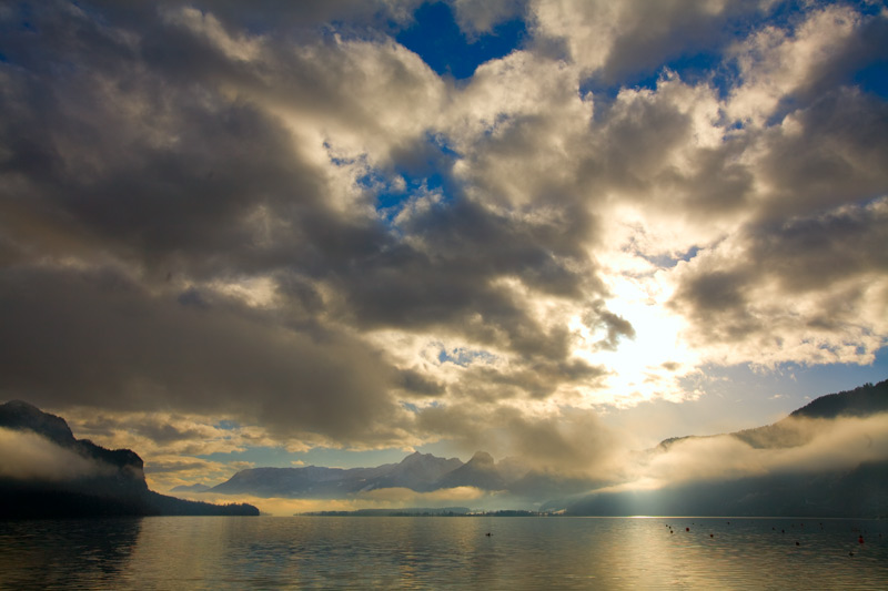 """photo """"Clouds on lake"""" tags: landscape, travel, Europe, clouds"""