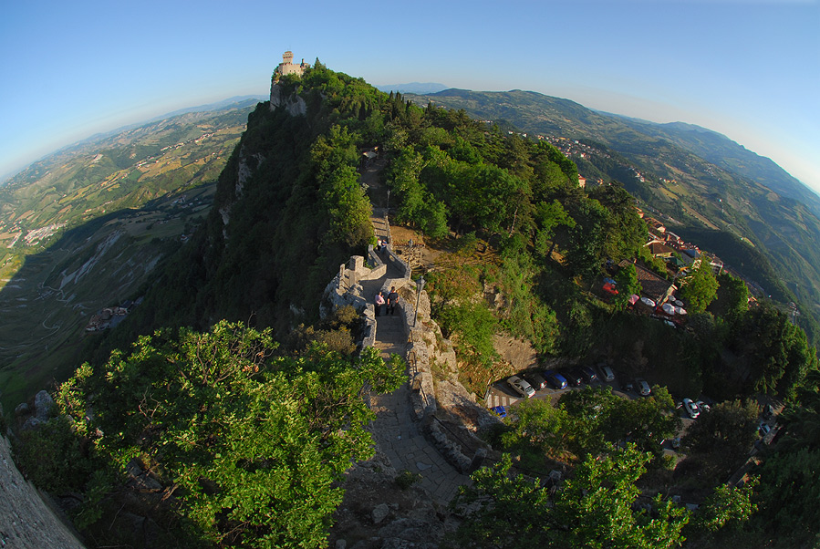 "photo ""San Marino-castle on the hill"" tags: architecture, landscape,"