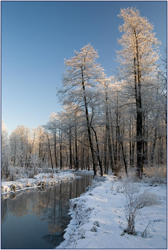 "photo ""Churilikha-river"" tags: landscape, water, winter"