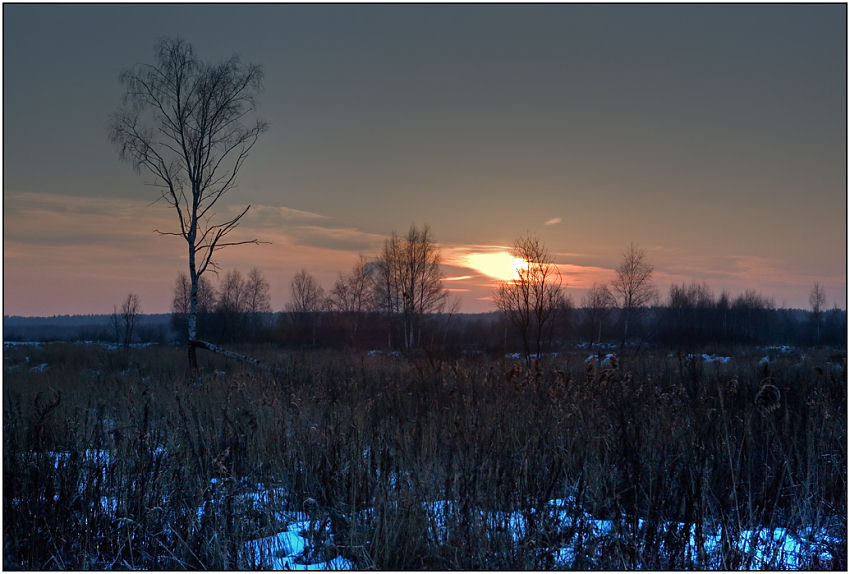"photo ""Twilight before New year"" tags: landscape, sunset, winter"