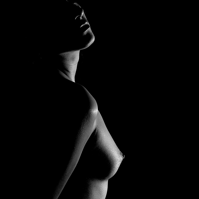 "photo ""Into the Light"" tags: nude, black&white,"