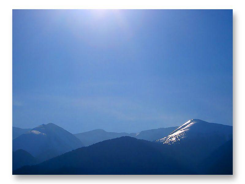 "фото ""Солнце. Снег. Горы"" метки: пейзаж, путешествия, Европа, горы, зима, скалы, снег"