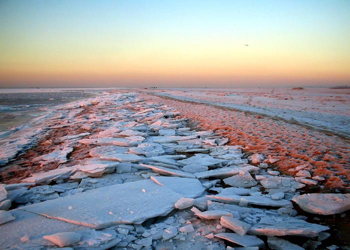 """фото """"Ледяная пустыня"""" метки: пейзаж, закат, зима"""