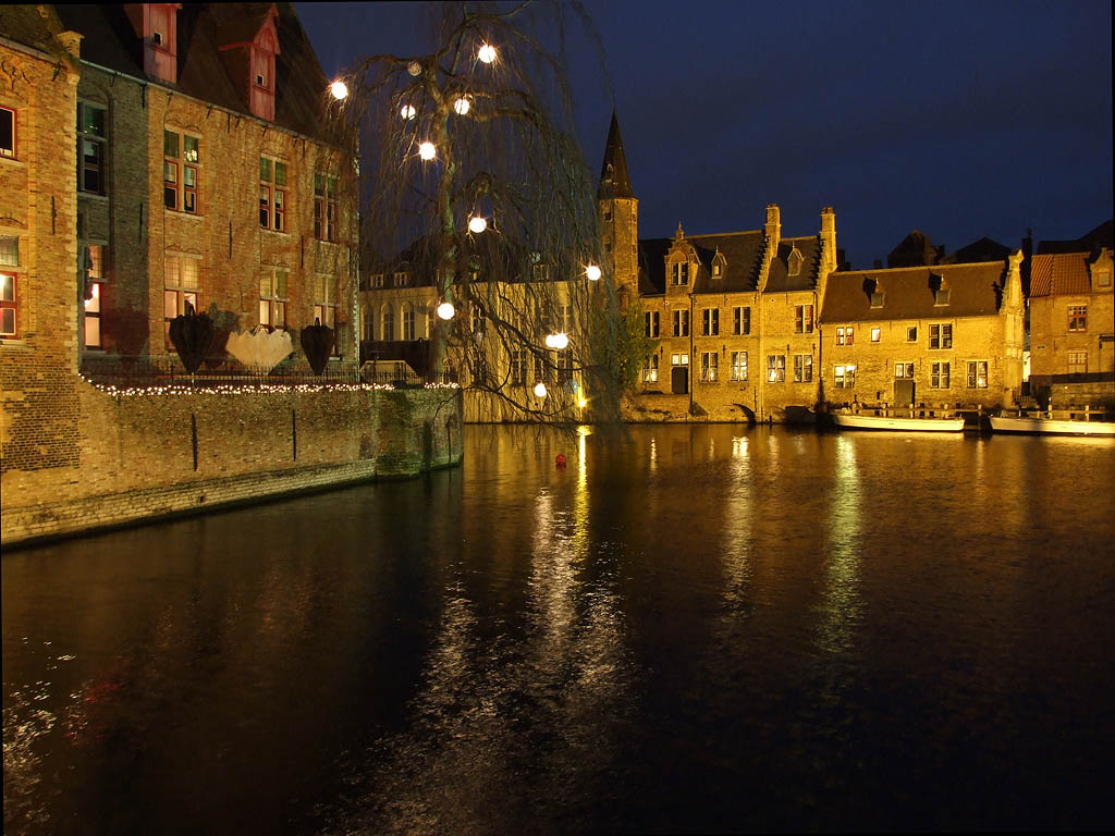 "photo ""Night In Brugge"" tags: landscape, architecture, night"