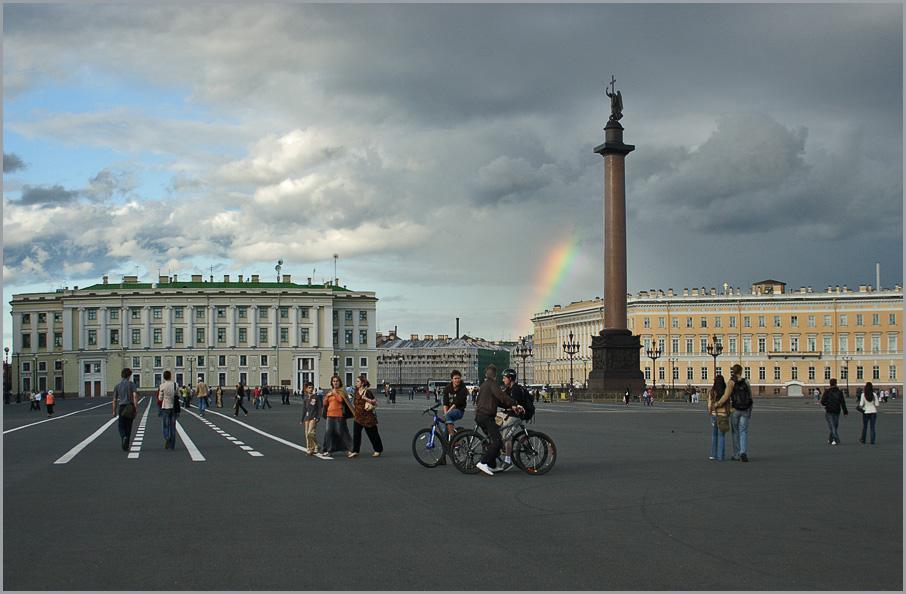 """фото """"С радугой по Дворцовой"""" метки: архитектура, город, пейзаж,"""