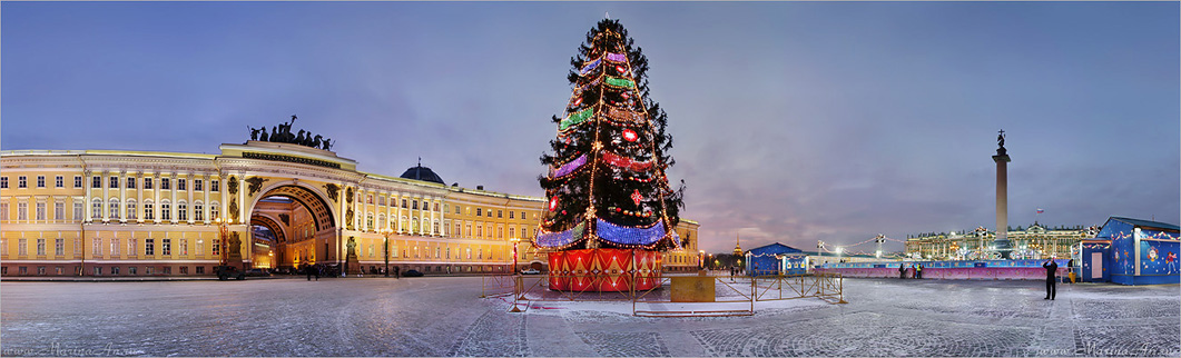 "фото ""Дворцовая площадь в ожидании праздника."" метки: панорама,"