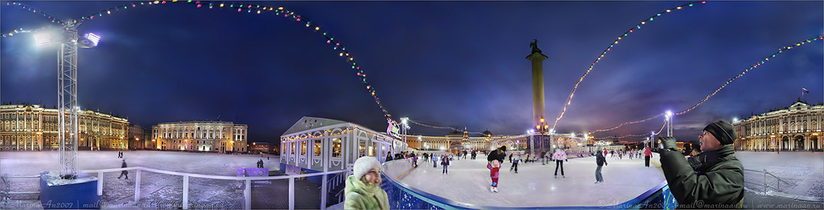 """фото """"Каток на Дворцовой площади."""" метки: панорама,"""
