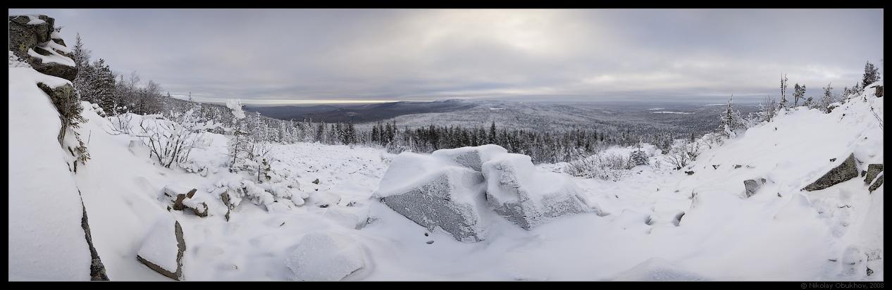 "фото ""Гора Белая / 0184_0018-0026"" метки: панорама, пейзаж, зима"