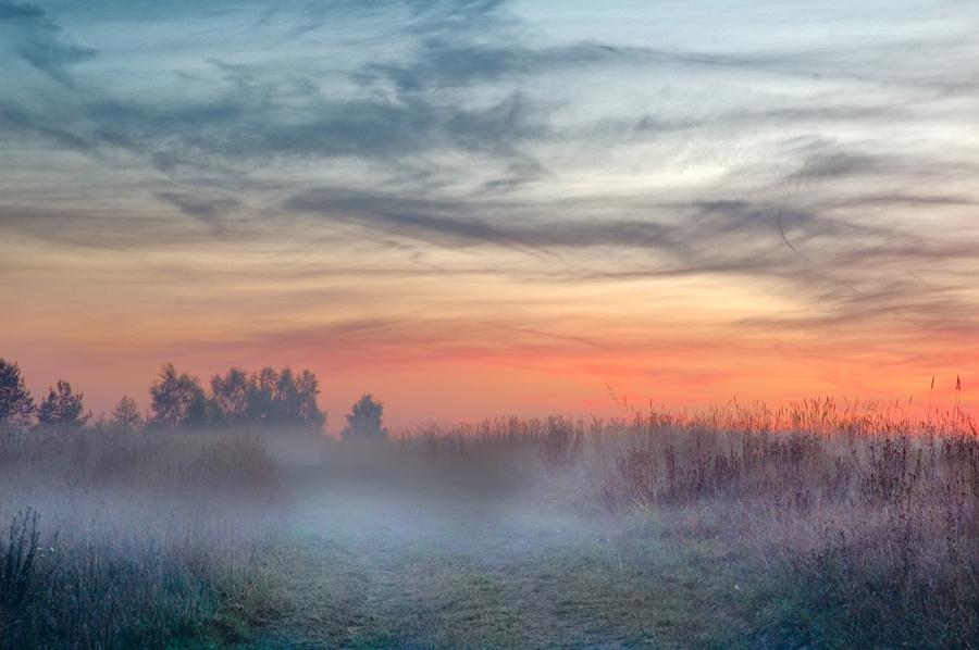 "фото ""Туман наступает"" метки: пейзаж, закат"