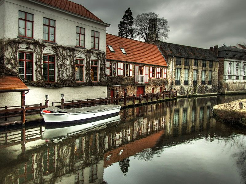 "photo ""Old Town Reflections"" tags: landscape, architecture, water"
