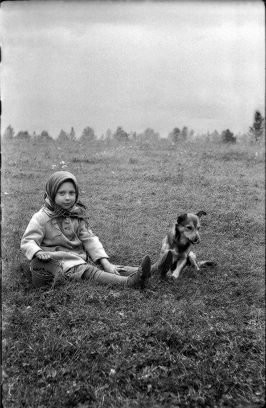 "photo ""Devochka with pawl ( original )"" tags: portrait, children"
