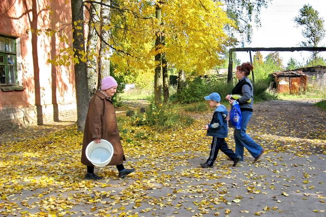 """фото """"Осенний урбанизм. Банный день."""" метки: пейзаж, жанр, осень"""