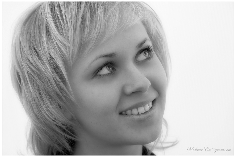 "photo ""Olga"" tags: portrait, black&white, woman"