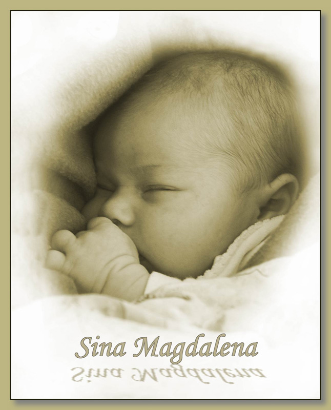 "photo ""Sina - my new born daughter"" tags: portrait, children"