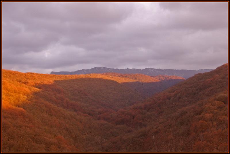 """фото """"Оранжевые горы"""" метки: пейзаж, горы, закат"""