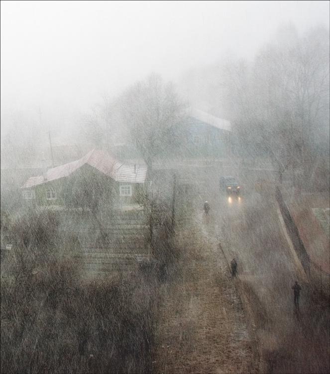"""photo """"Snow April of 2007"""" tags: landscape, city,"""