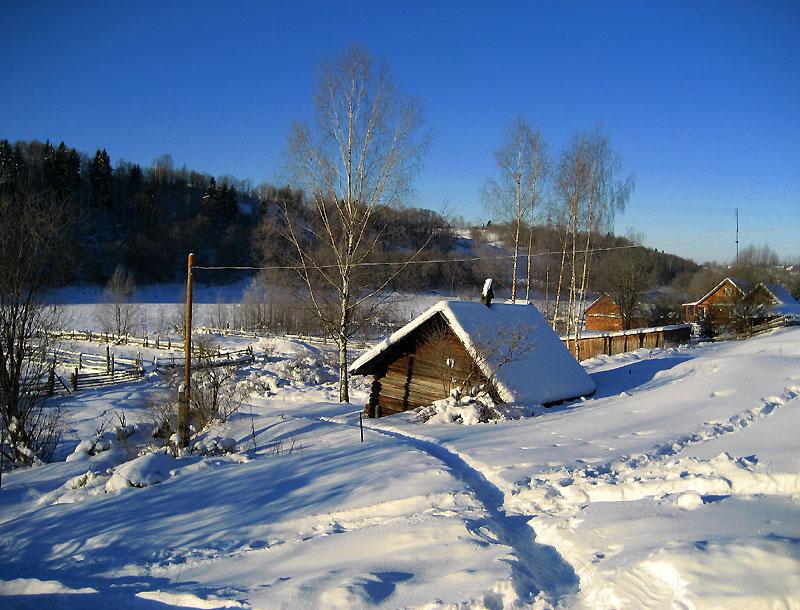 """фото """"Старая баня и прошлогодняя зима."""" метки: пейзаж, зима"""