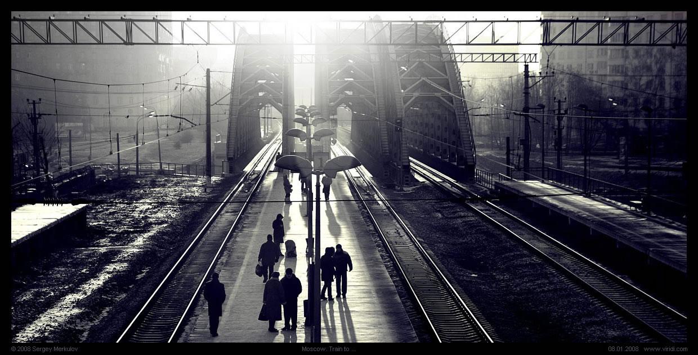 """фото """"Train to ..."""" метки: город,"""