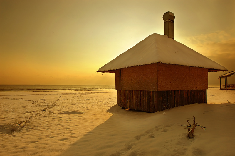 "фото ""Snow and Sea"" метки: пейзаж, вода"