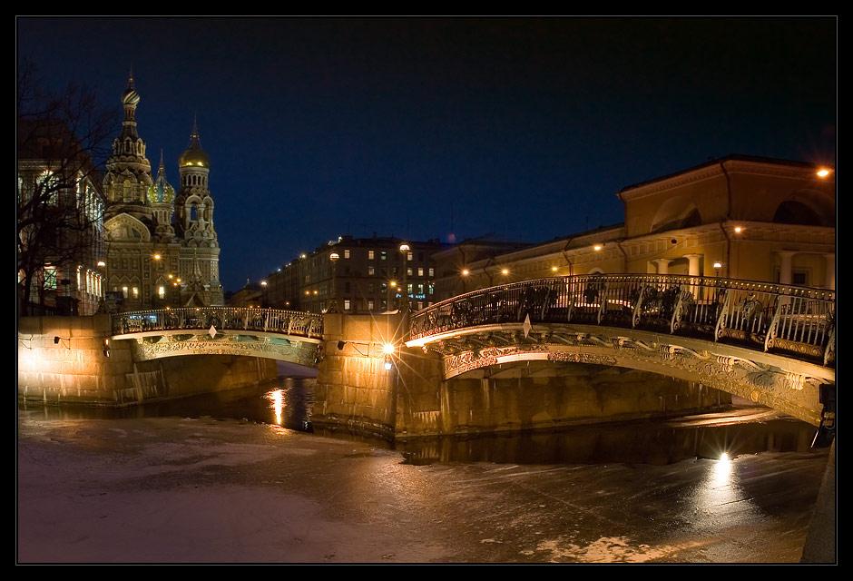 """photo """"Twin bridges"""" tags: architecture, city, landscape,"""