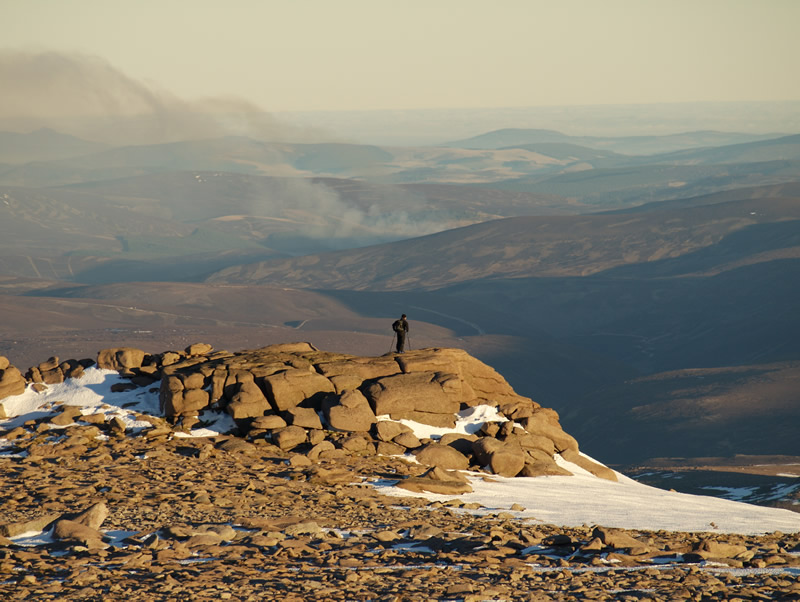 "photo ""View from the Cairngorm Summit, Scottish Highlands"" tags: landscape, mountains, winter"