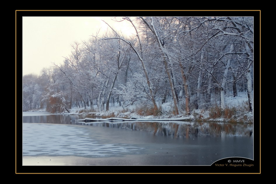 "photo ""Quiet"" tags: landscape, water, winter"