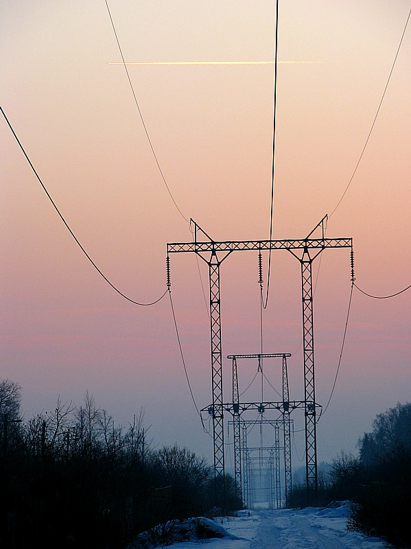 """фото """"небесные струны"""" метки: пейзаж, архитектура, закат"""
