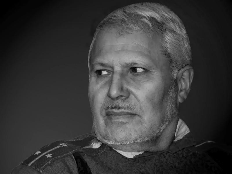 "photo ""The cossack."" tags: portrait, black&white, man"