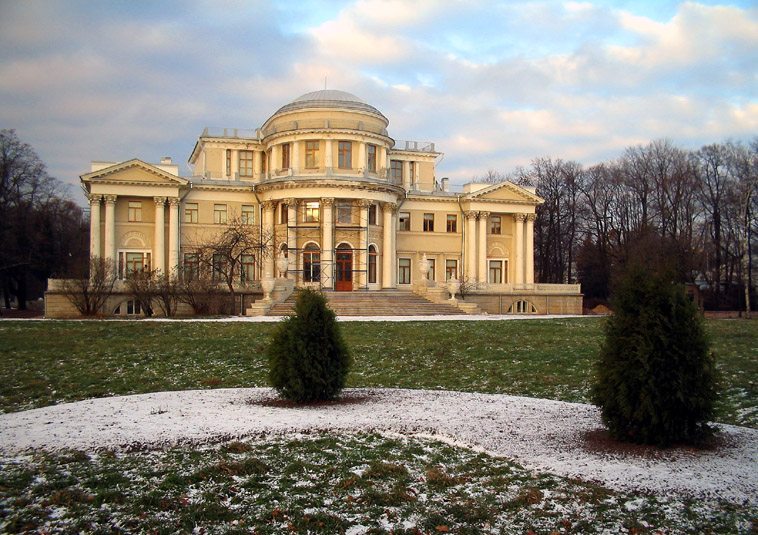 "photo ""The Elagin Palace"" tags: architecture, landscape, winter"