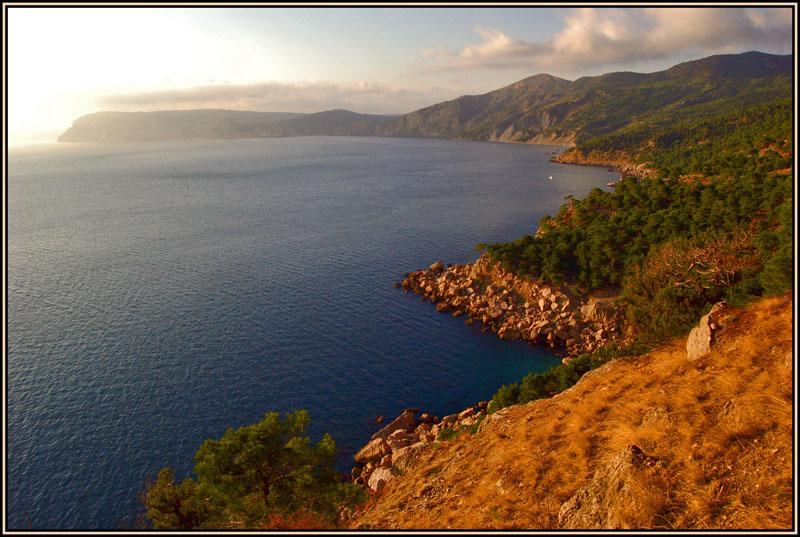"""фото """"Вечерний брег"""" метки: пейзаж, вода, горы"""