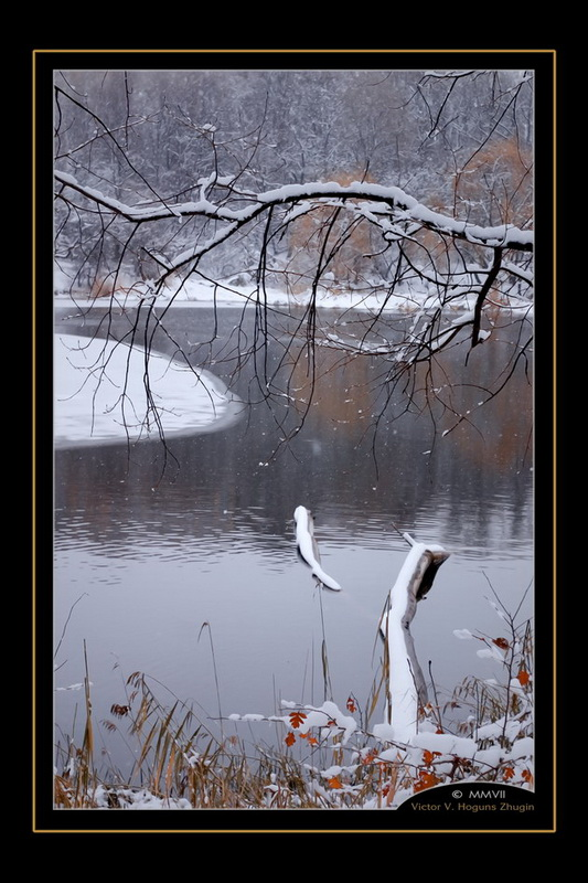 "photo ""Winter arting"" tags: landscape, water, winter"