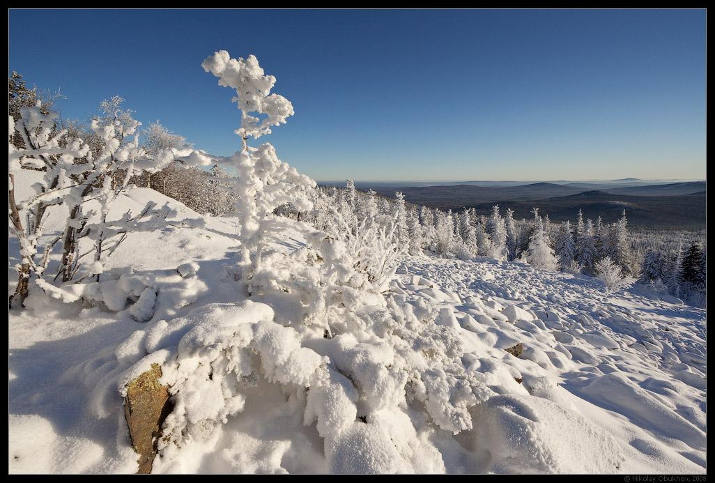 """фото """"Гора Белая / 0184_0060"""" метки: пейзаж, горы, зима"""