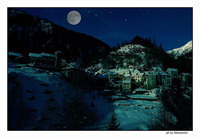 "photo ""night winter"" tags: landscape, mountains"