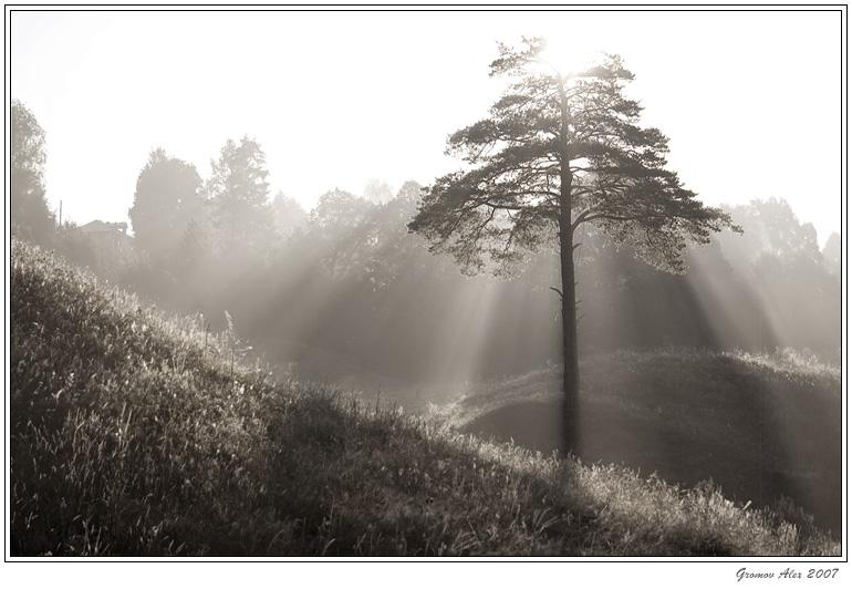 "photo ""***"" tags: landscape, black&white, sunset"
