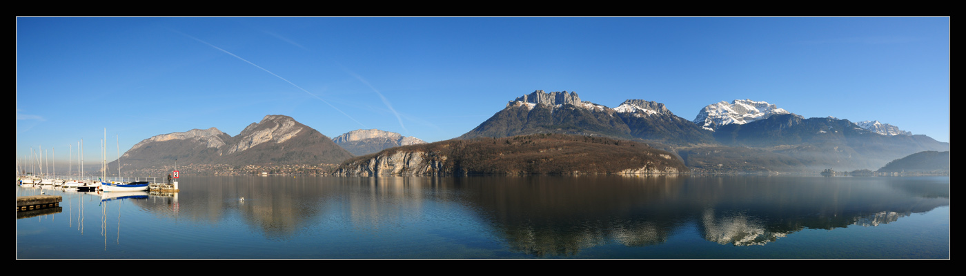 "photo ""Panoramic Alps Annecy Lake"" tags: panoramic, landscape, winter"