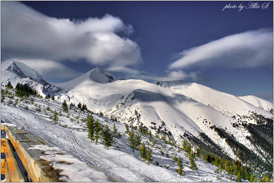 """фото """"Про горы и зеленые елочки"""" метки: пейзаж, горы, зима"""