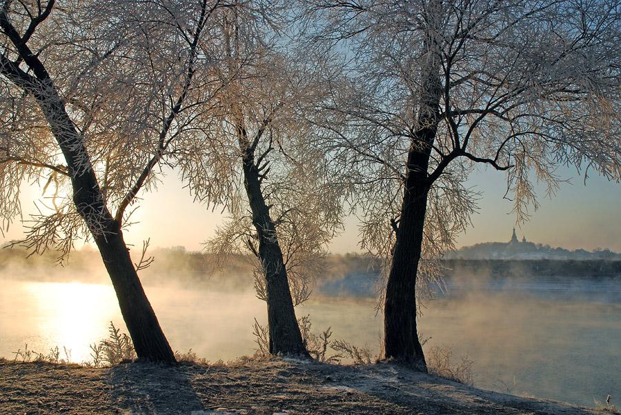 """фото """"Утренний свет.#"""" метки: пейзаж, зима"""