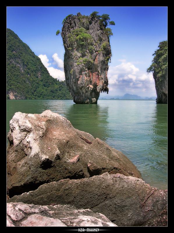 "photo ""* SEA PILLAR *"" tags: landscape, mountains"