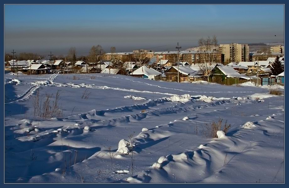 "photo ""town fringe"" tags: landscape, winter"